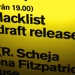 Backdraft - Blacklist release party poster